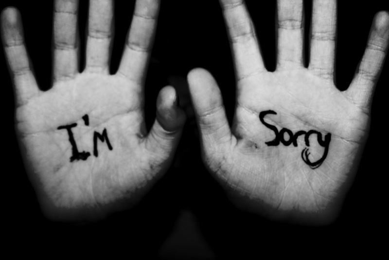 how to show that you are sorry