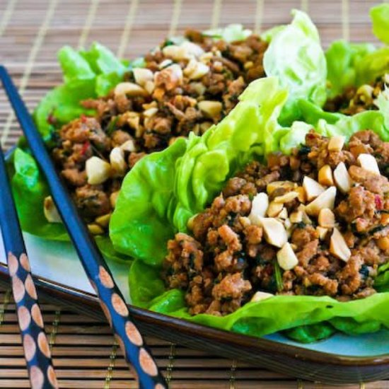 Healthy Thai Food Recipe | Thai Ground Turkey Wrap