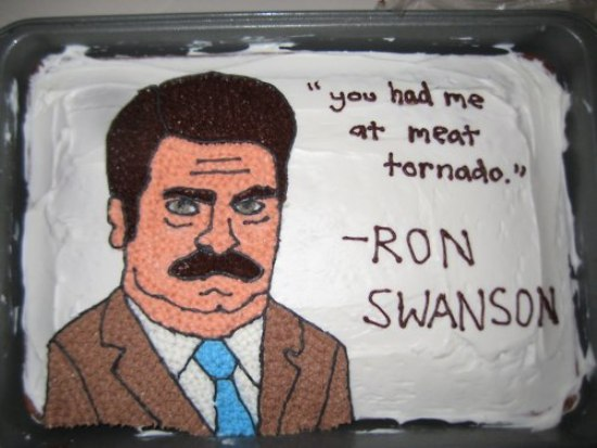 Ron Swanson Birthday Cake