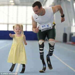 Pistorius and little girl