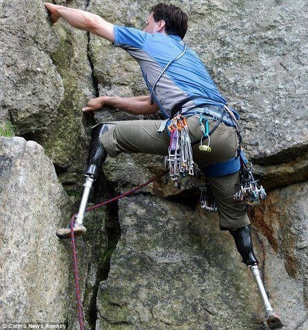 no excuses rock climber