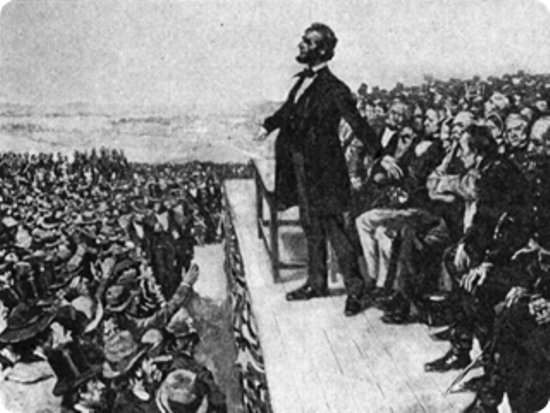 an analysis of the gettysburg address a famous speech of abraham lincoln In the speech now known as the gettysburg address, president abraham lincoln delivered a reminder of the nation's origins, emphasizing the stakes at risk by the civil war, and provided a call to action for the preservation of the nation and the ideals of liberty and equality the gettysburg address .