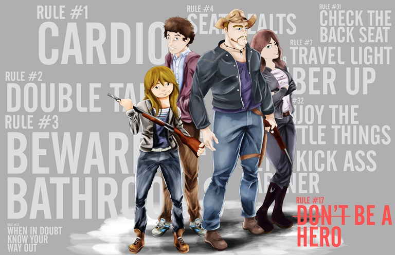Zombieland Rules Cartoon