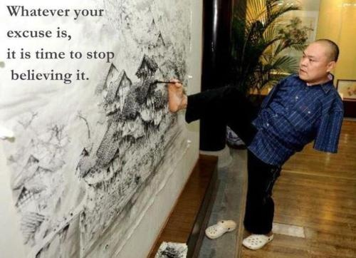 No excuses painter
