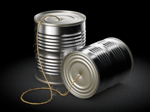 Tin can telephone
