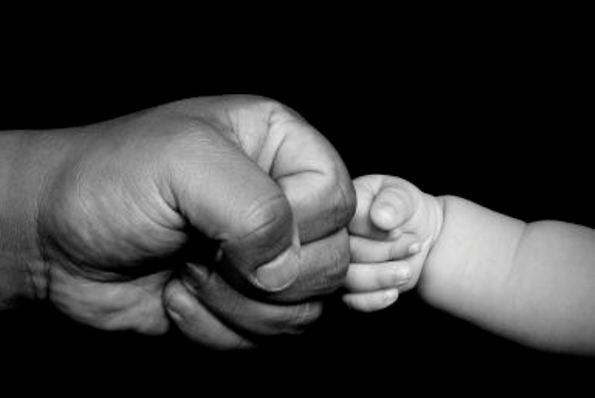 Father  Son Fist Bump